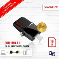 Flash Disk Sandisk OTG Dual Drive 16GB USB 3.0