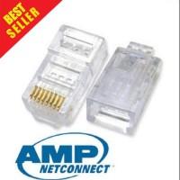 ORIGINAL Konektor AMP Rj45 Cat5e 50pcs / Connector AMP RJ 45