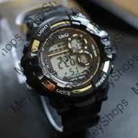 jam tangan pria QnQ super / jtr 1182 gold