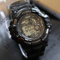 jam tangan pria QnQ water resist super / jtr 1182 hitam