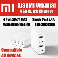 Charger Xiaomi Original 4 USB Fast Charging