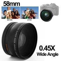 Wide Angle Lens with Macro 58mm for Canon
