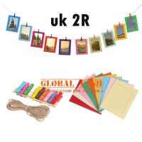 frame gantung warna warni 2R/ hanging foto/ paper frame photo / kertas