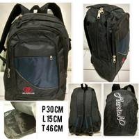Ransel Laptop Backpack kuliah /Tas Sekolah/Kerja M001 free raincoat