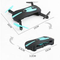 JY018 Elfie FPV Quadcopter Drone WiFi 2MP 720P Camera - Black