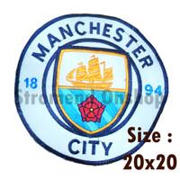 Emblem Bordir Manchester City Terbaru Besar