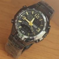 Jam Tangan Pria Casio Edifice Spedo Black list gold KW-Super