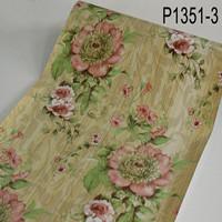 Big flower pink 45 cm x 10 mtr ~ Wallpaper dinding sticker