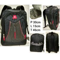 Tas Ransel Laptop Backpac Kerja/Tas Sekolah/Kuliah M001 free raincoat