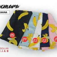 Jilbab Maxmara Motif  Banana Square Segi Empat