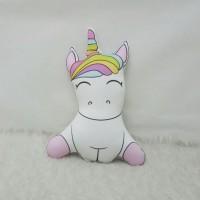 Boneka Plushie Unicorn - Cute Sit Small