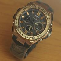 Jam Tangan Pria GShock DualTime Rantai Black list Gold Kw Super