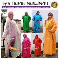 jas hujan muslimah dewasa mantel gamis