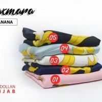 Jilbab Maxmara Segi Empat Motif Banana (Pisang)