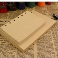 Isi Buku Catatan Binder Kulit Retro Leaf Kertas A6 - Vintage