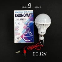 Lampu LED Ekonomat DESE12 9W DC 12V Aki Solar Cell Panel Surya Capit