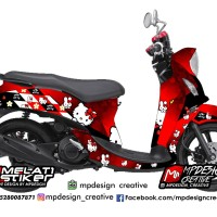 Decal Stiker Yamaha Fino Hello Kitty