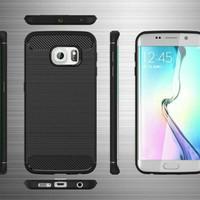 CASE SILIKON CARBON Samsung Galaxy S6 edge SOFTCASE CASING