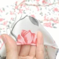 Kerudung Segiempat Motif Sakura Salem - Hijab - Jilbab - Souvenir -