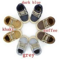Sepatu prewalker newborn bayi anak laki shoes baby kanvas tali