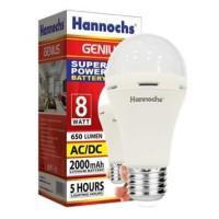 Lampu LED Hannochs Genius Emergency 8w 8 w 8 watt Magic AC DC