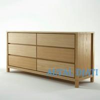 buffet minimalis cabinet rak tv meja drawer top jati jepara