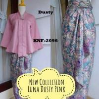 Baju pesta kebaya luna dusty set rok batik lilit cantik