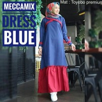 Baju muslim dress Meccamix Dress kantor dress cantik