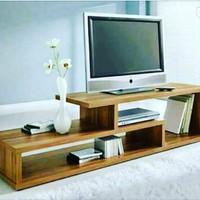meja tv minimalis kayu jati pilihan