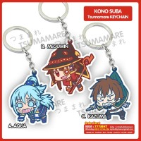 Gantungan Kunci Acrylic Anime Kono Suba Pinched Tsumamare (satuan)