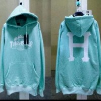 sweater hoodie distro bandung Thrasher HUF not SUPREME PROMO