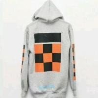 sweater hoodie distro bandung  off white SUPREME LEAF B PROMO