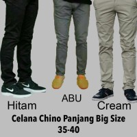 Celana chino panjang pria Abu abu size 35-40 jumbo