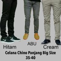 celana chino abu panjang pria size 35-40 big