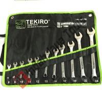 Kunci Ring Pas Set TEKIRO 11 pcs 8 - 24 mm