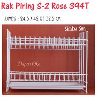 Rak Piring & Tray Susun 2 Rose 394 T Simba Sun
