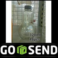 [GO-SEND] botol bohlam lampu 320ml susu milkshake