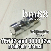 Lampu Rem Led 12 SMD 3030 12W Projector Normal - 1157 Premium
