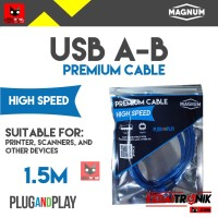 Kabel USB A-B 1.5M MAGNUM Printer Scanner AB 1.5 1,5 Meter ORIGINAL HQ