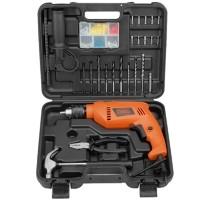 Mesin bor tembok Set Hammer drill HD555KOPR Black+Decker HD 555 KOPR