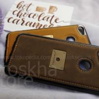 Case Oppo F7 Leather Caseme Bumper Soft Case Back Cover Tpu - Cokelat