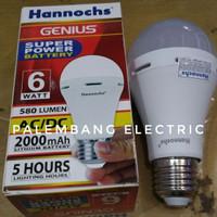 Lampu bohlam Led Hannochs genius emergency 6watt 6 watt 6w 6 w