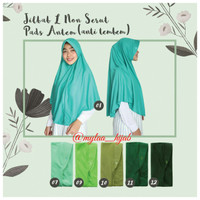 Jilbab Instan NON SERUT Size L bahan kaos PE Murah Seri Hijau