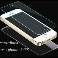 Tempered Glass Iphone 5 5G 5S 5C SE Depan Dan Belakang / ANTI GORES