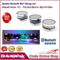 Speaker Bluetooth full LED Motif Spker S10 Karakter Unik
