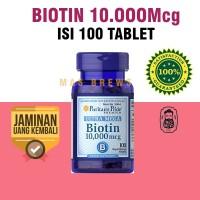 Biotin puritans pride 10.000mcg isi 100 Softgell murah original