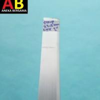Plat Strip Aluminium Lebar 23.5mm Tebal 0.8mm Panjang 100cm