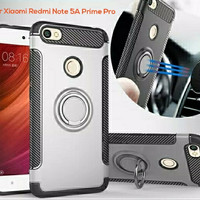 Xiaomi Redmi Note 5A Prime Pro Armor Hard Soft Carbon Case with Stand