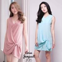 Arise Jumpsuit Casual Playsuit Celana Pendek Set Wanita JP285 - Hitam