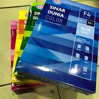 Kertas Fotocopy HVS F4 Warna 70 Gram Sinar Dunia Alat Tulis Kantor ATK